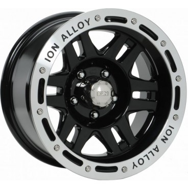 ION ALLOY Wheel 133 16x8 5x120 Black Machined