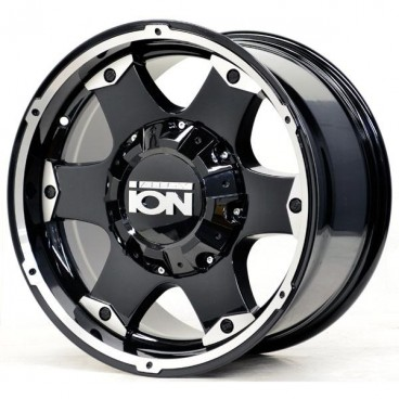 Llanta ION ALLOY 194 16x8 6x139,7 / 5x139,7 Black Machined