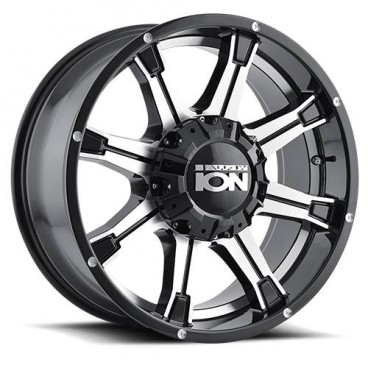 Llanta ION ALLOY 196 Black Machined Face 18x9 6x139,7/6x135