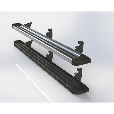 Estribos planos de aluminio para Toyota Hilux 05+