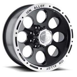 Llanta ION ALLOY 174 16x8 6x139,7 Matte Black Machined lip