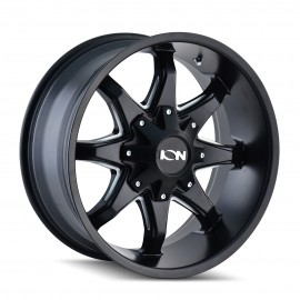 Llanta ION ALLOY 181 Satin Black Milled Spokes 18x9 6x139,7 6x135