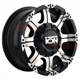 Llanta ION ALLOY 187 16x8 5x139/6x139,7 Black Machined
