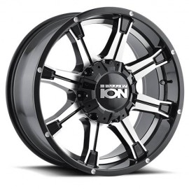 Llanta ION ALLOY 196 Black Machined 18x9 5x114,3/5x127