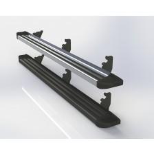 Estribos planos de aluminio para Chevrolet  S-10 12+